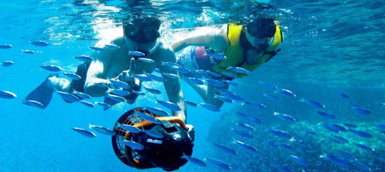 La plongée en apnée à Los Arcos - Grand Velas